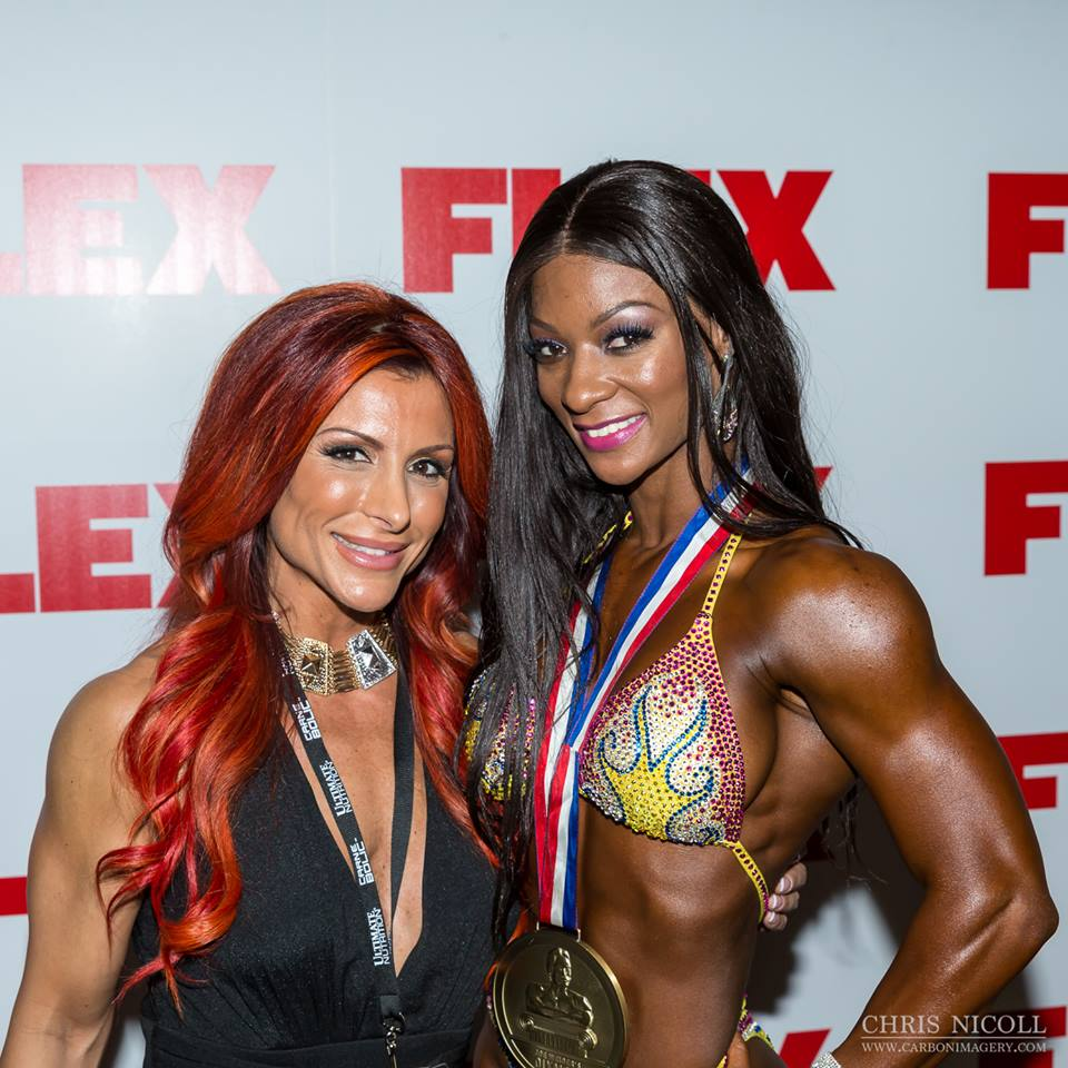 Nancy with Candice Lewis backstage 3rd place Figure