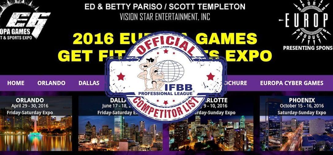 Competitors list!
