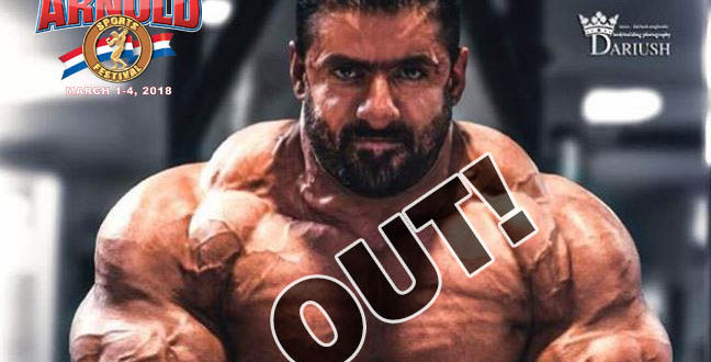 BREAKING: Hadi Chopan Is out of Arnold Classic