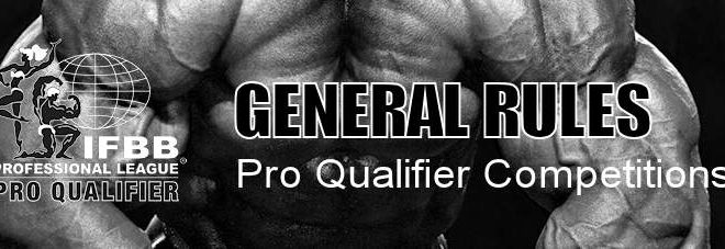 IFBB Pro League Pro Qualifier Rules