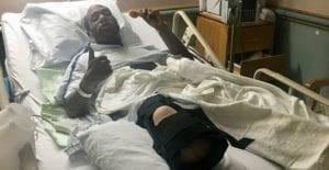 Shawn Lebega at the hospital