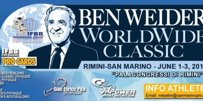 2018 Ben Weider WorldWide Classic (Rimini – San Marino)